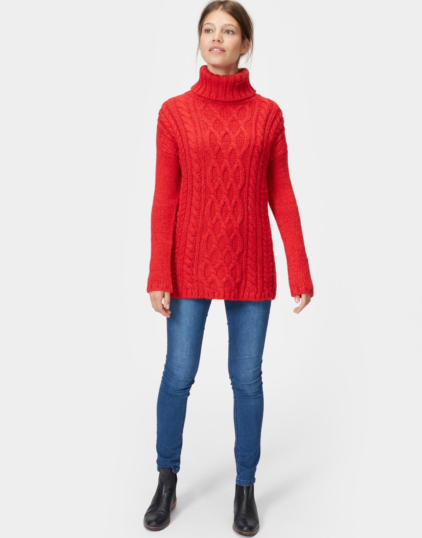 Joules | QUINBY Cable Knit Jumper | Women's sweaters | HighCollars